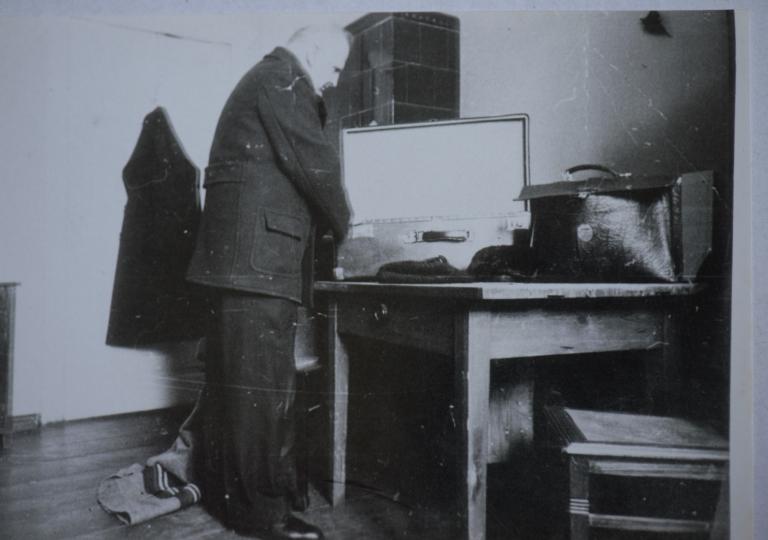 O. Alojzy i o. Kubista tuż przed wywiezieniem z Górnej Grupy 05.02.1940